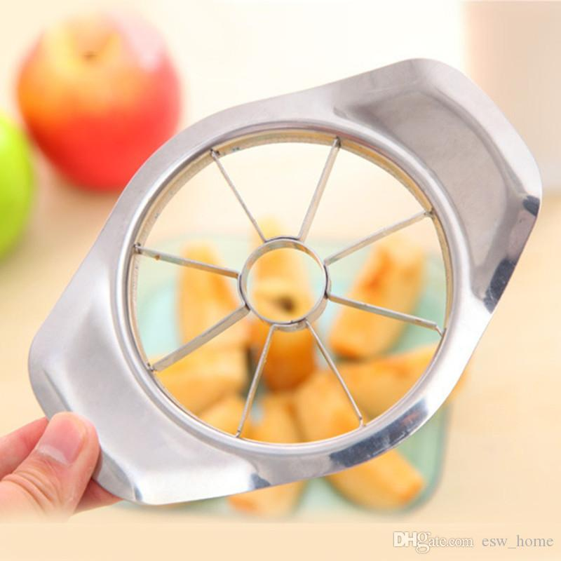 1 قطع التفاح القاطع المقاوم للصدأ تقطيع الفاكهة قطع التفاح أخذ العينات الجوفية الكمثرى القواطع سكين مقشرة أداة القطع جديد