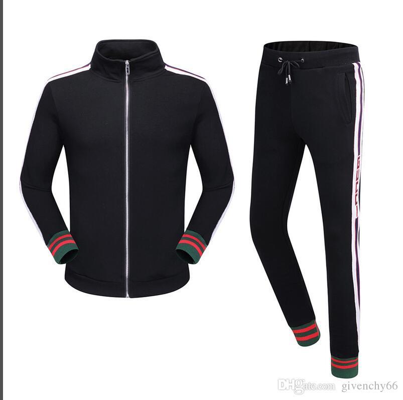 2018 erkekler spor kap çizgisiz üst giysi ve siyah kazak qiu dong koşu takım elbise suç spor takım sporları