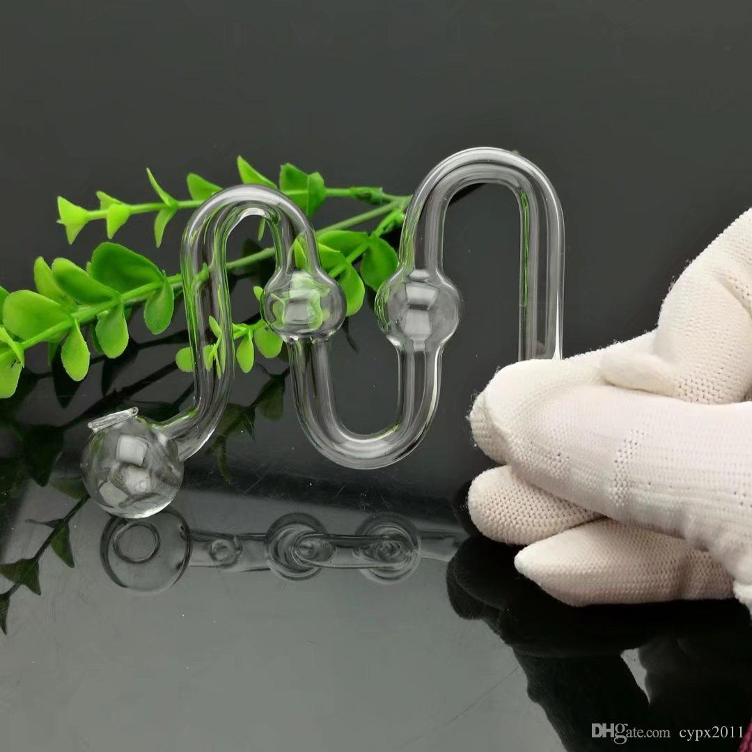 Çift bubble pot M Toptan Cam Nargile, Cam Su Boru Bağlantı Parçaları, Ücretsiz Kargo