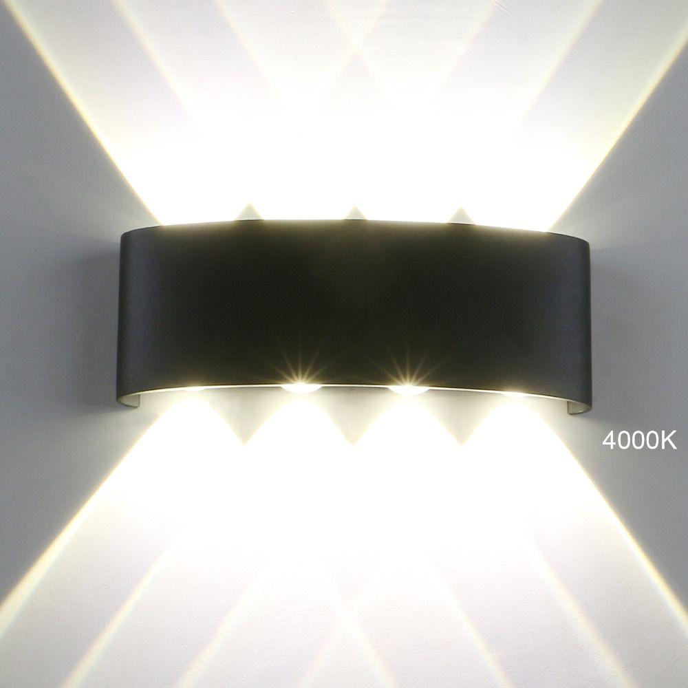 Lampade da parete moderne a LED da esterno 4/6 / 8W Luci da parete a LED Indoor Sconce Garden Corridoio Balcone Up Down luci portico IP65 Impermeabile