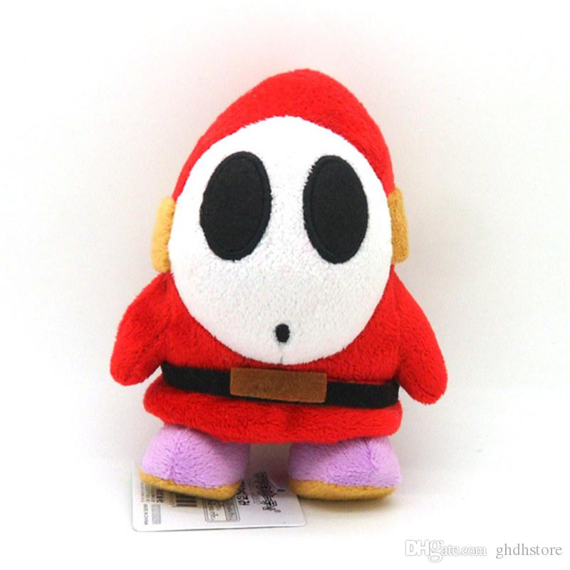 """Top New 6"""" 16CM Super Mario Bros Shy Guy Plush Doll Anime Collectible Dolls Pendants Stuffed Party Gifts Soft Toys"""
