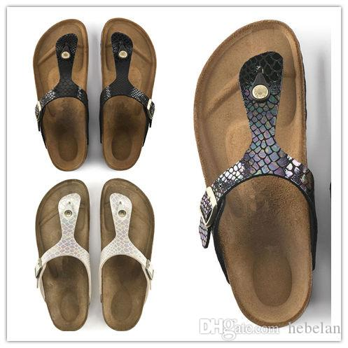 New Brand Gizeh Men and Women Slippers Breathble Flip Flops Summer Brik Beach Sandals Fashion Buckle Genuine Leather Casual Cool Sandals