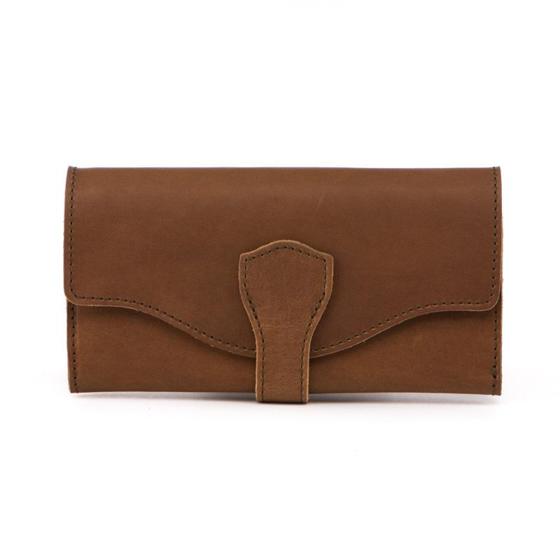 Travel Wallets Wallets womens long section clutch bag Womens Long Grid Buckle Leather Handbag Leisure wallet