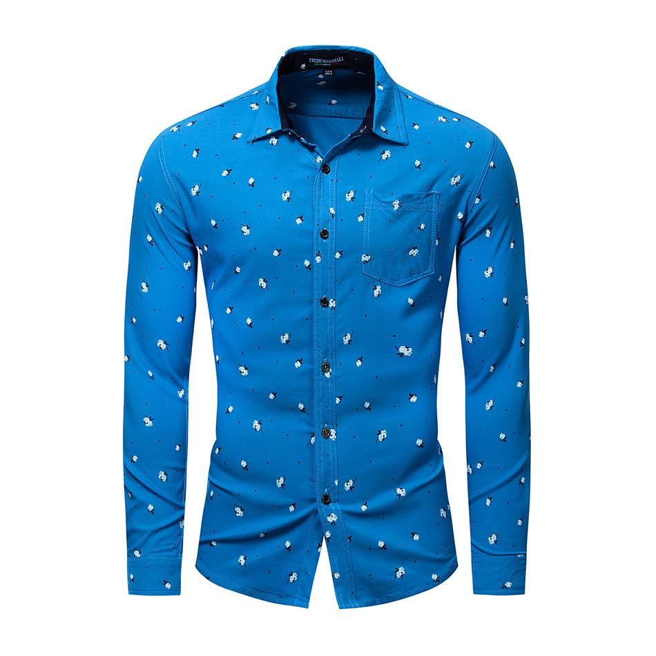 información para d6e46 2437b Compre Camisa De Manga Larga De Algodón Para Jóvenes De Four Seasons New  Men's Camisa Floral Casual Camisa De Solapa De Personalidad Urbana Para ...