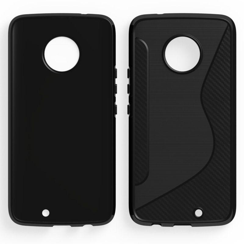 Custodia Slim Armor NS Line da 1.3mm per LG Q6 V30 / V30 Plus Motorola Moto X4 Z2 Custodia Cover rigida TPU per HTC U11 Plus U11 Life in fibra di carbonio