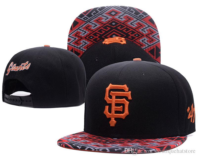 Fashion Men's Baseball Giants Snapback Hats 47 Design Classic Embroidered Letter SF Bones Sports Baseball Flat Caps With Special Brim