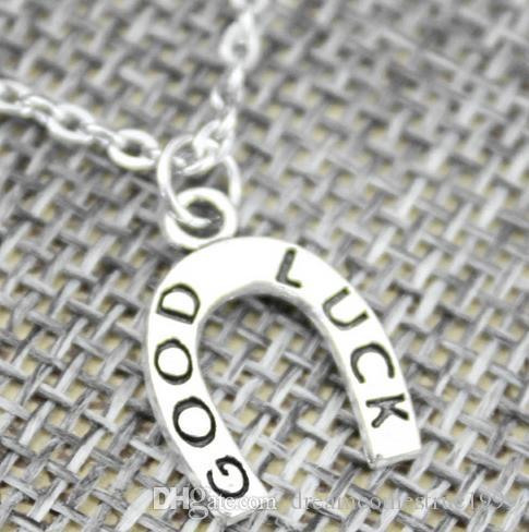 freies Schiff 20pcs / lot tibetanische Silve Weinlese-Art-gute Glücksbringer-Ketten-Halskette DIY