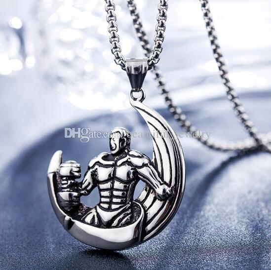 HAMANY Necklace,Mens Necklaces,European and American Stainless Steel Necklace Fashion Heart Pendant Titanium Steel Necklace