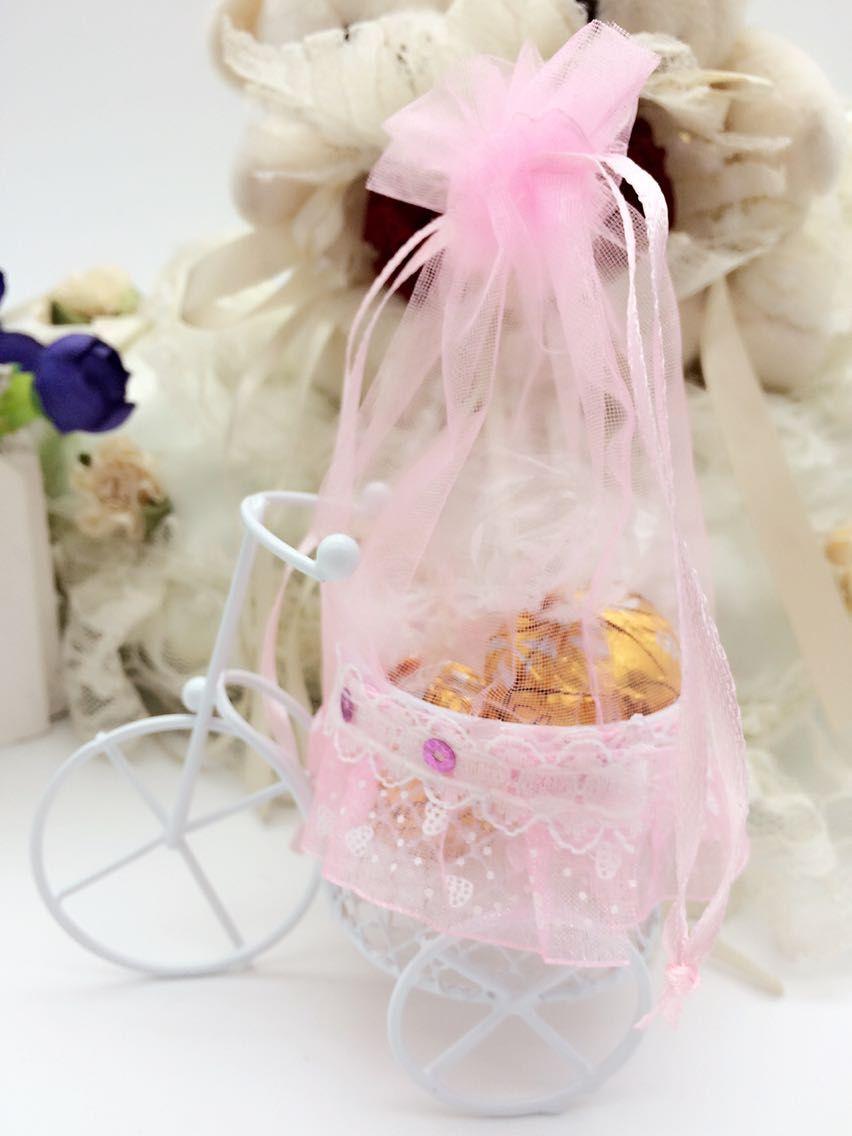 2019 NUEVO Favor de la boda Cajas Creativo Metal Iron Tricyle Shaped Candy Boxes Hermosa fiesta especial Favores Favores Decoraciones