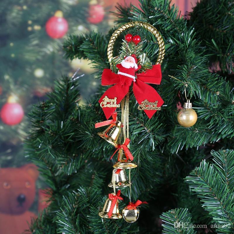 Рождественский декор Санта-Клаус длинный колокол кулон украшения Рождественская елка украшения для дома Новый год поставки партии бесплатная доставка горячей продажи