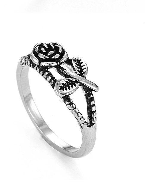 tibet silver rose Finger ring Silver Rings for Women Men Lovers Wedding Ring