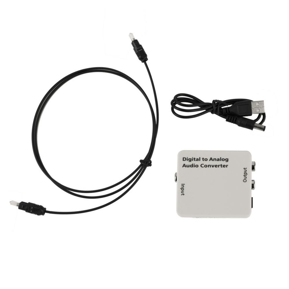 Freeshipping Digital Optical Toslink Coax to Analog R/L/RCA Audio Signal Converter Adapter