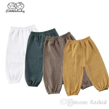 Emmababy Kleinkind Kleinkind Baby Mädchen Jungen Hosen zerknitterte Baumwolle Vintage Bloomers Hose Legging Hosen Boby Kleidung