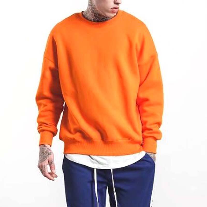 2018 Vêtements de mode rue Hot vente Solid hoodies Sweatshirts Coton pulls hiphop Vêtements d'hiver surdimensionnés décontractés 10 couleur