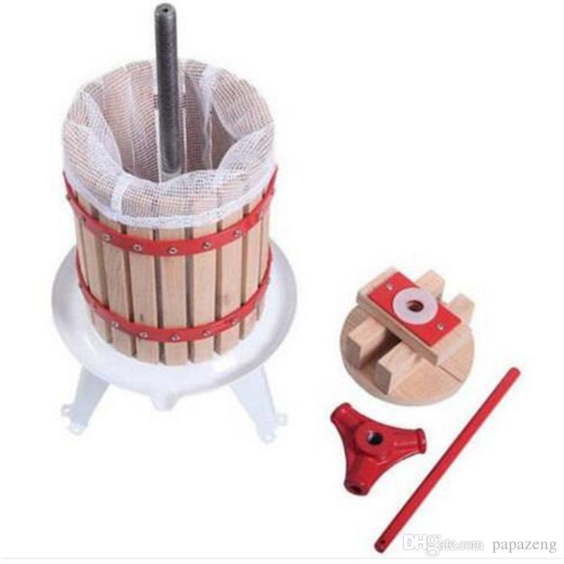 ¡Venta! 18L Apple Grade Crusher Fruta y Vino Oak Press Machine Madera Color Blanco Manual juicer Manual de procesadores de alimentos