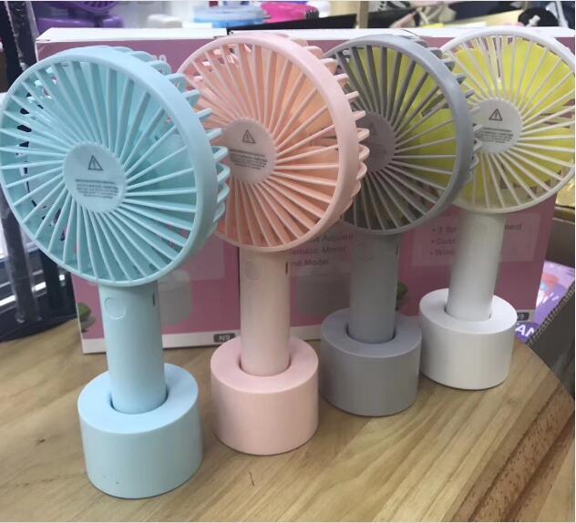 Tragbare Mini-Ventilator Multifunktionale USB Rechargerable Kinder Handy-Tischventilator 18650 Adjustable 3 Speed für Indoor Outdoor