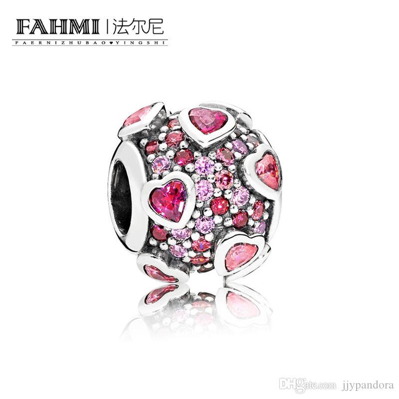 Fahmi 100% 925 Sterling Silver 1: 1 Oryginalny 796555Czsmx Autentyczne Temperament Moda Glamour Retro Bead Wedding Women Jewelry