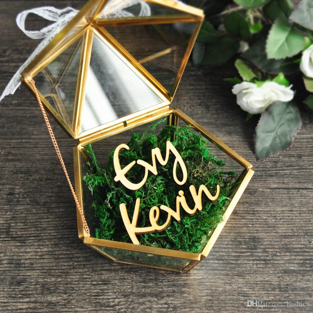 Glass Ring Box  Ring Box  Wedding Ring Box  Jewelry Box  Glass Box  Geometric Box