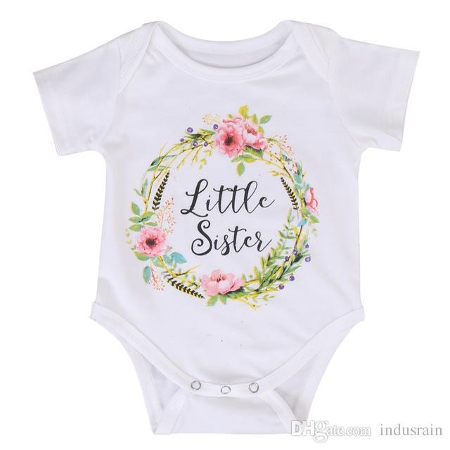 Suore installate Bambina per bambini Piccola sorella grande Vestiti per abbigliamenti Tuta con pagliaccetto T-shirt