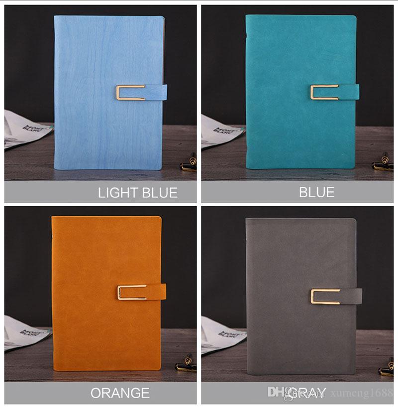 Classic A5 Notebook portatile, Cancelleria per ufficio in cuoio con copertina rigida in pelle PU Diario Notepad Diario Materiale scolastico - 80 fogli
