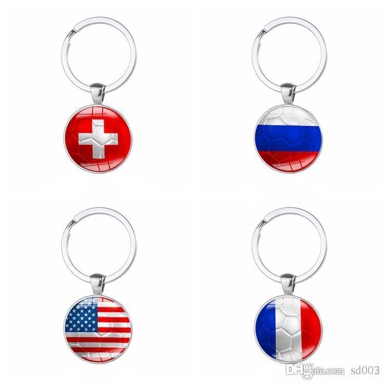 العلم الوطني صورة مفتاح مشبك كأس العالم لكرة القدم المفاتيح بالكهرباء قلادة لمحبي التذكار رائعة يدوية 1 8xm ii