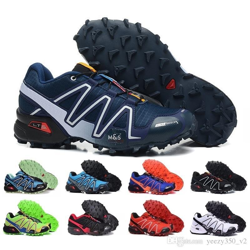 Drop Shipping 2018 Yüksek Kalite Yeni Zapatillas Speedcross 3 Koşu Ayakkabıları Erkekler Yürüyüş Ourdoor Spor Hız çapraz Atletik Ayakkabı Boyutu 36-46