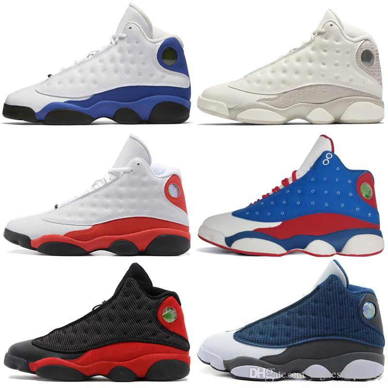 2019 13 13s Shoes Mens Basketball Fantasma Chicago GS Hiper reais gato Flints Bred Brown Holograma Barons homens esportes tênis mulheres # 1