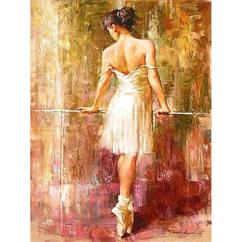 Foto Frameless Sexy Dancer Diy Painting By Numbers Kit da colorare By Numbers Pittura acrilica su tela Regalo unico per le arti della casa