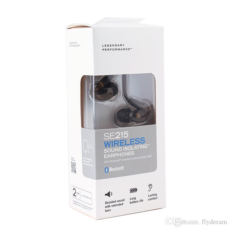 Yeni Kablosuz Bluetooth Se215 Marka Kulak Kulaklık Eurbuds Gürültü Yeni paket HIFI Kulaklık ücretsiz DHL kargo