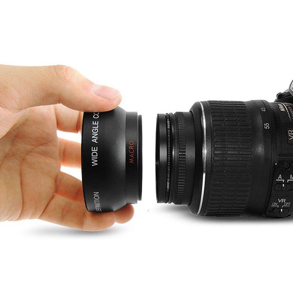 Freeshipping Professional objectif Macro grand angle 0,45 x 52MM pour Nikon D3200 D3100 D5200 D5100 noir très grand angle
