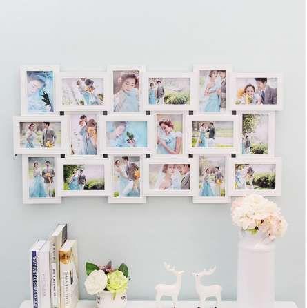 18 صور إطار الجدار الديكور متعدد الصور إطار الكولاج فتحة ديي ديكور المنزل ل غرفة المعيشة جدار الشارات 90x47 سنتيمتر