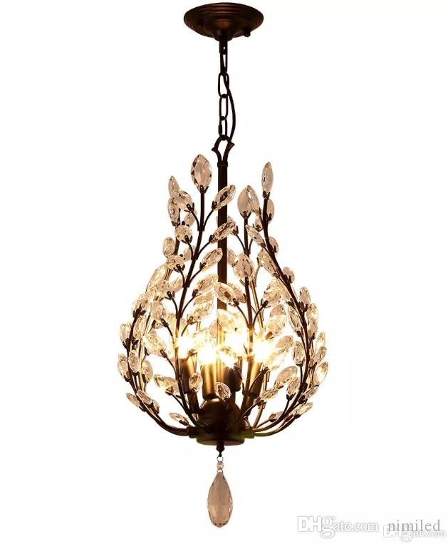 4 Lights Chandelier Ambient Light - Crystal Mini Style, Rustic / Lodge Vintage Lantern Country Traditional / Classic Retro Modern / Contempo