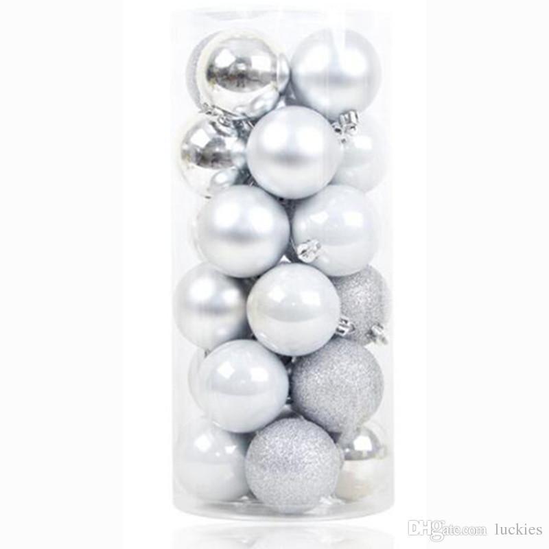 8cm /3.15 Zoll Weihnachtskugeln Shatterproof glänzend und glänzend Weihnachtsbaum-Kugel Ornamente Dekorationen für Feiertag Wedding Deco Polshed