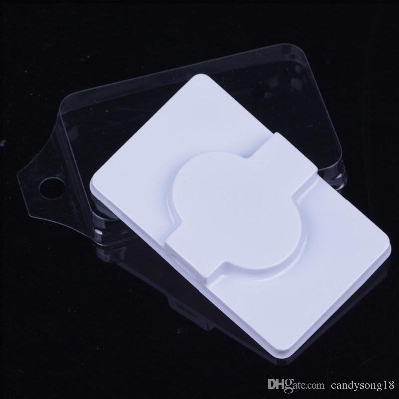 Casse finte vuote scatola di imballaggio trasparente coperchio riutilizzabile occhi ciglia caso sicuro pvc falso fermi per ciglia F533