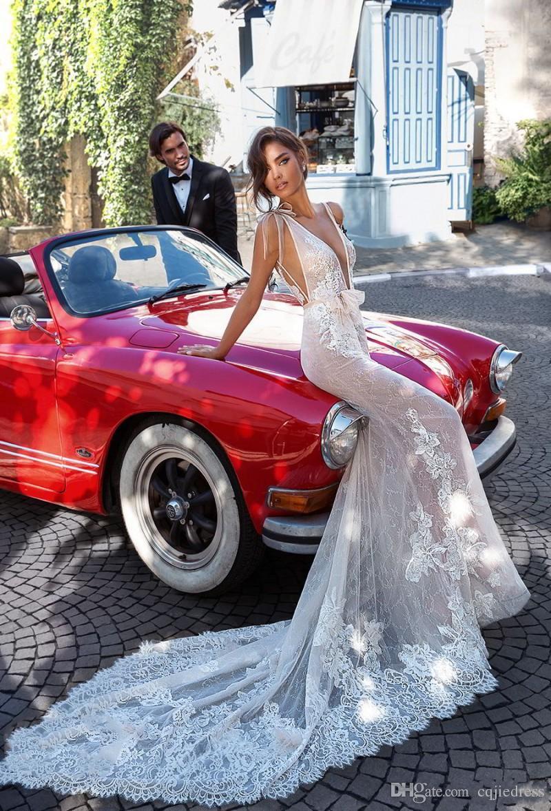 Sexy Desinger русалка свадебные платья с оберткой 2018 новые без спинки свадебные платья полное кружевное аппликация Vestido de Noiva 2019