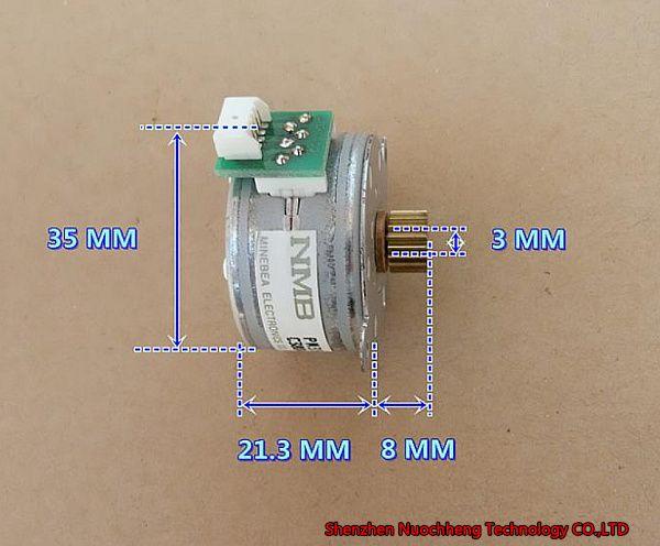 아주 새로운 일본 MB4 단계 5 철사 35mm 족답 모터 PM35L-048 24V7.5 도 복사 기계/인쇄 기계 댄서 모터