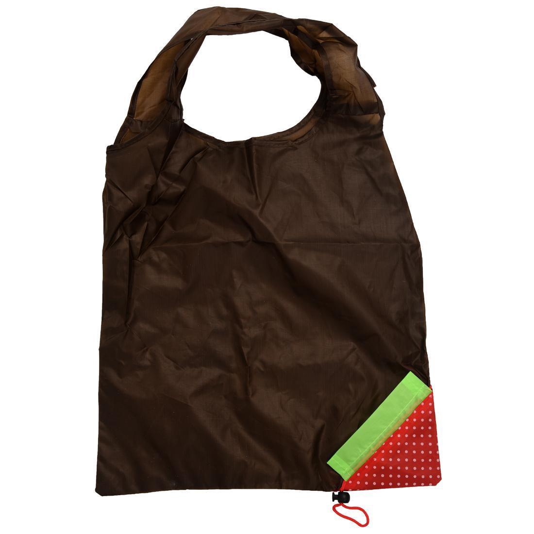 Morango original que dobra o nylon compacto reusável do saco de compras de Eco