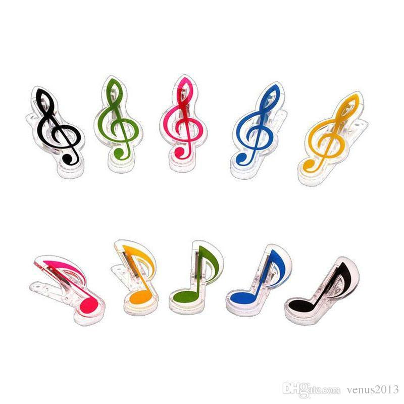 Plastique Musique Note Clip Piano Page Page Clamp Musical Treble Clef Clips De Mariage D'anniversaire Party Faveur Cadeaux