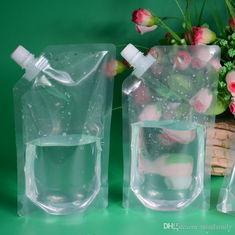 500ml Stand-up Plastic Plastic Drink Torba Wylewka Wyroby Do Przelotu Do napojów Ciecz Juice Mleko Kawa Wyczyść Torba Darmowe Shippin