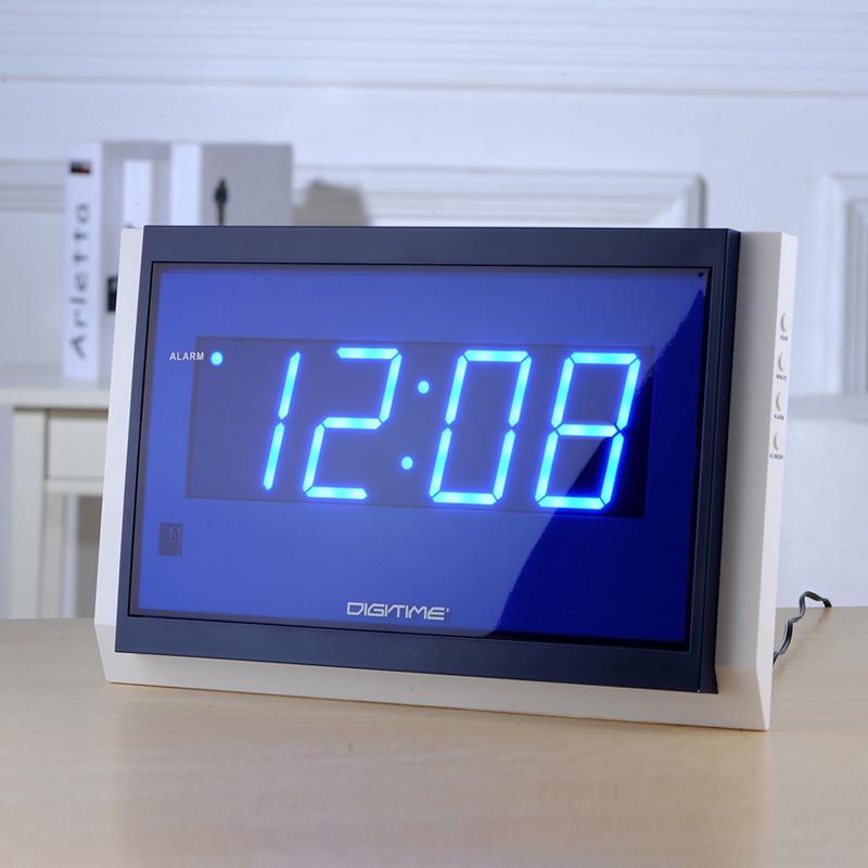 2017 NUEVO reloj grande remoto Despertadores Reloj de pared grande de Control Digital LED de diseño moderno Decoración Snooze 318 * 186 * 27mm