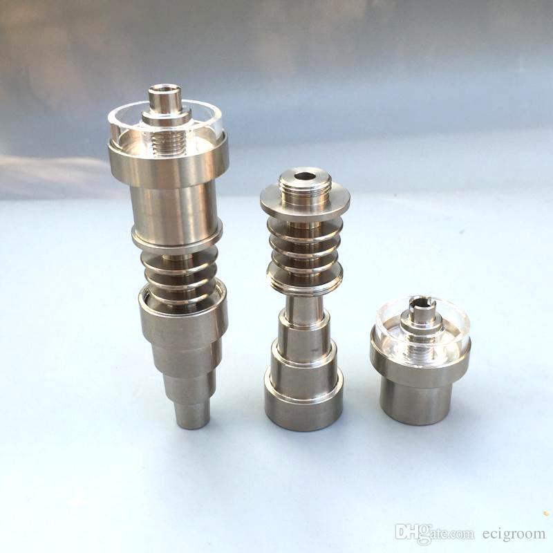 6 in 1 universale Domeless titanio Nails quarzo ibrido piatto 10 millimetri 14 millimetri 18 millimetri Uomo Donna GR2 per tubi in vetro Bong Acqua Dab Rigs