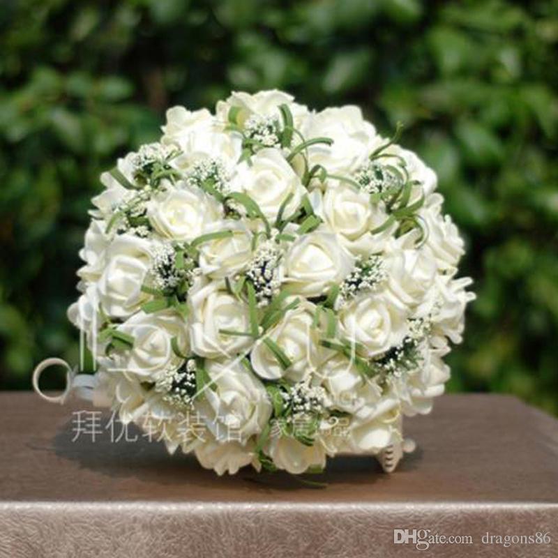 Mazzo Di Fiori Per 25 Anniversario Matrimonio.Acquista Nuovo Mazzo Di Rose Artificiali Colorate 25 Cm Di Fiori