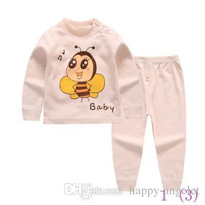 Dzieci Baby Boys Dziewczyny Zestawy Odzieżowe Dres Cotton Sport Suit Cartoon T-shirt + Spodnie Ubrania dla dzieci Zestawy 0325