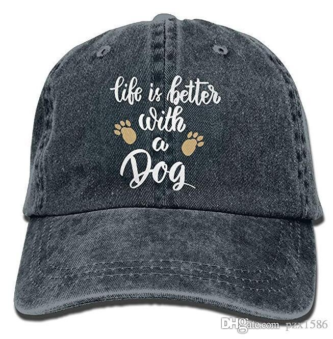 pzx @ Life is Better with A Dog-1 Vintage Jeans Baseball Cap للرجال والنساء