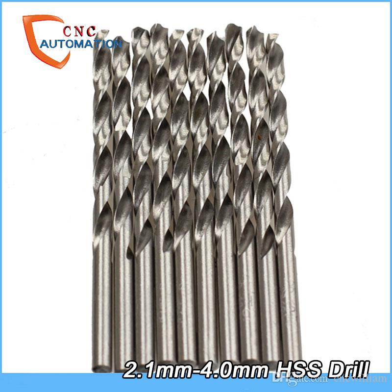 50PCS/Set HSS twist High Speed Steel Drill Bits Set 2.1mm-4mm straight shank Quality Jobber Lowest Price electric hand drill drilling