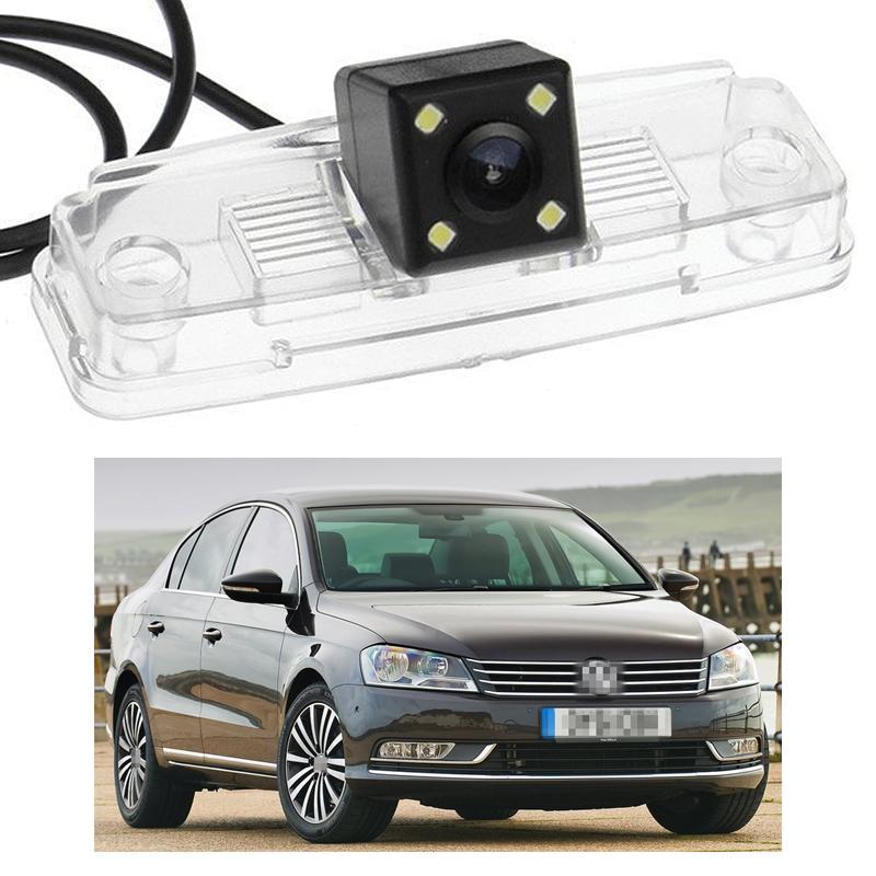 Novo 4 LED Câmera de Visão Traseira Do Carro Reversa Backup CCD apto para VW Passat B7 2012 2013 2014