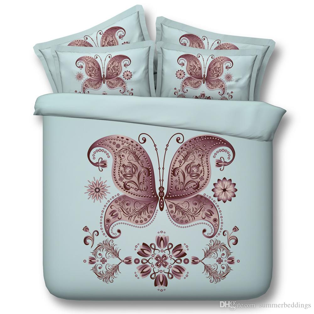 3D animal bedding sets queen christmas duvet cover golden butterfly single twin king cal king size bedlinens bedspreads home textiles
