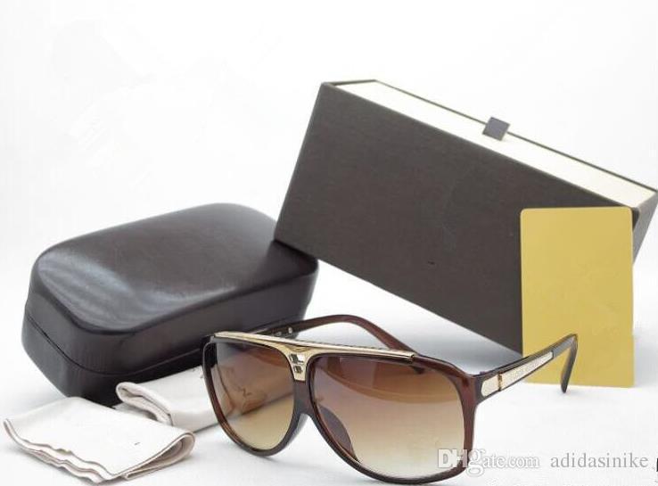 Nouveaux Lunettes de marque Haute Qualité noir Lunettes de soleil Ventes chaudes Hommes lunettes de soleil lunettes Femmes lunettes de soleil Marque Designer lunettes de soleil boîte
