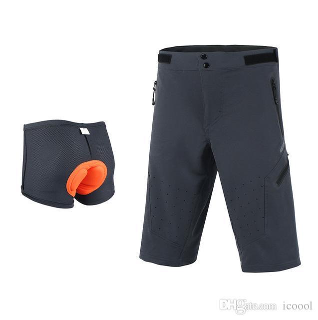 Shorts Da Bicicleta por atacado Homens Downhill Mountain Bike Shorts 3D Acolchoado Esporte Ao Ar Livre Ciclismo Underwear Bicicleta DH BMX MTB Shorts bermuda ciclismo