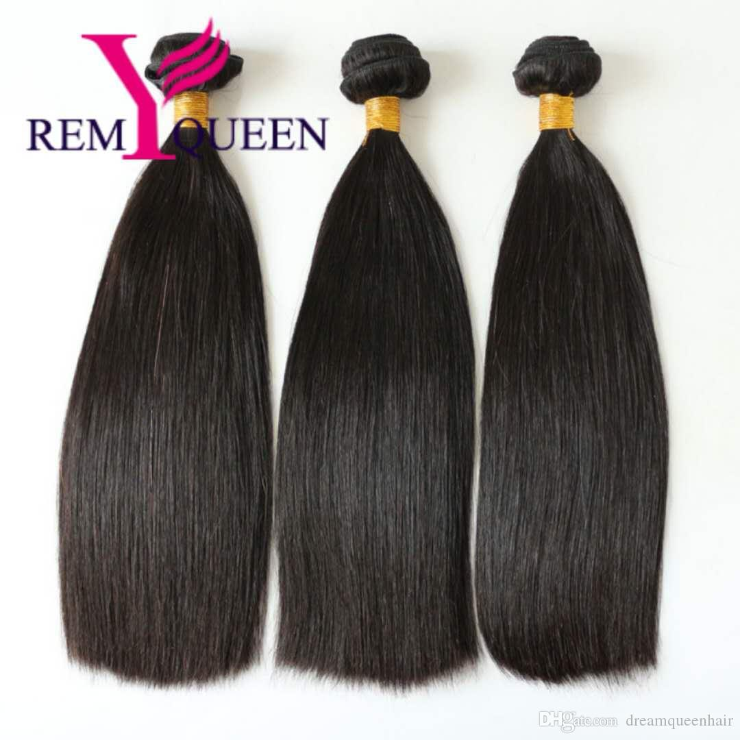Remy Queen 8 A Brazilian Virgin Double Drawn Hair Bundle Extension For Black Women Human Hair Free Shipping